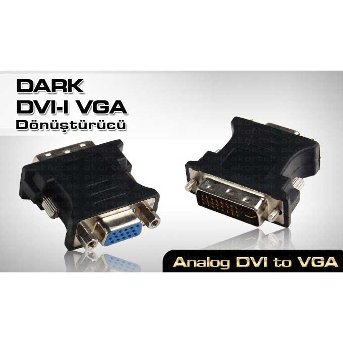 DARK DK-HD-ADVIXVGA DVI TO VGA 24+5 ÇEVİRİCİ ADAPTÖR