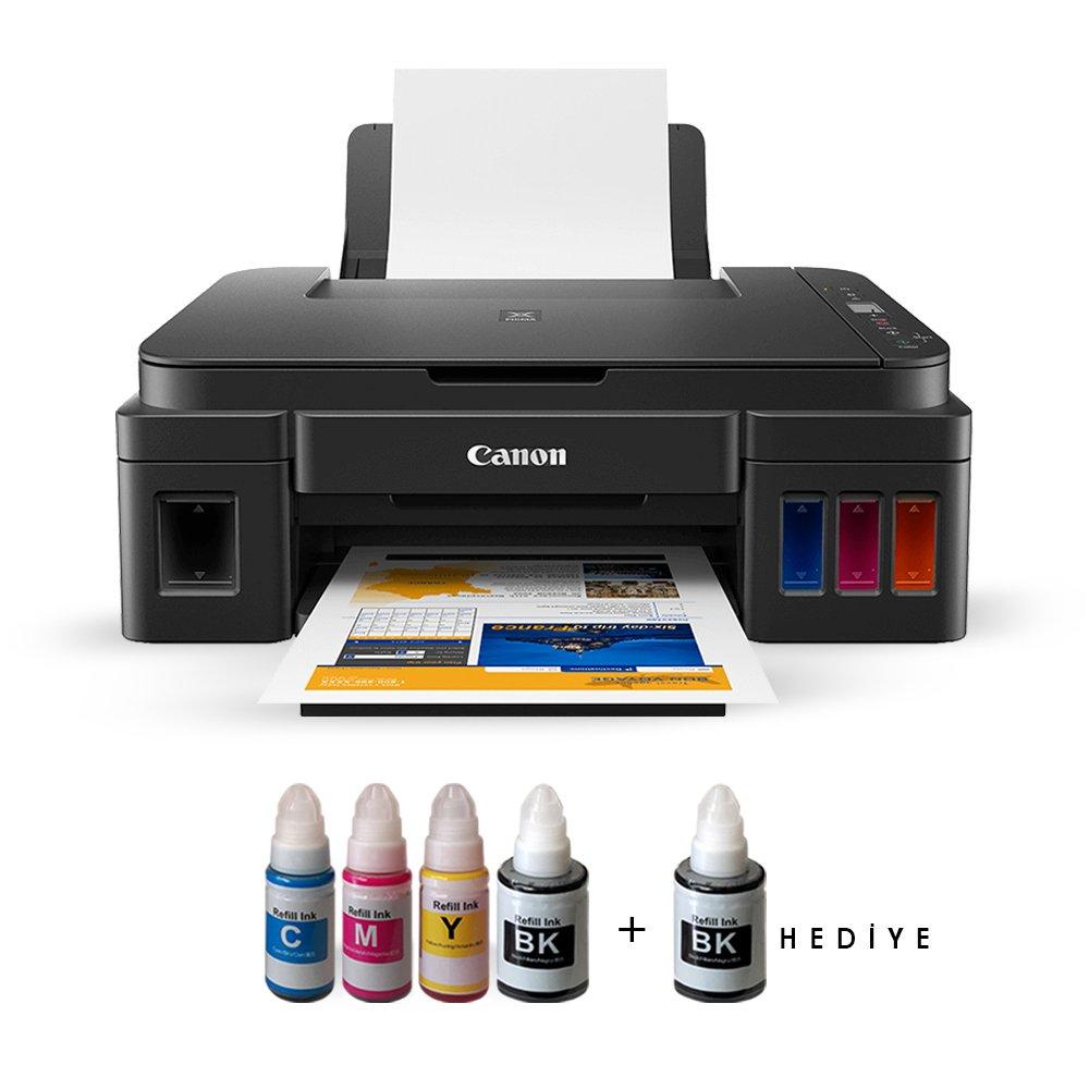 CANON PIXMA G3411 TANKLI YAZICI TARAYICI FOTOKOPİ USB/WIFI A4 +INK BK