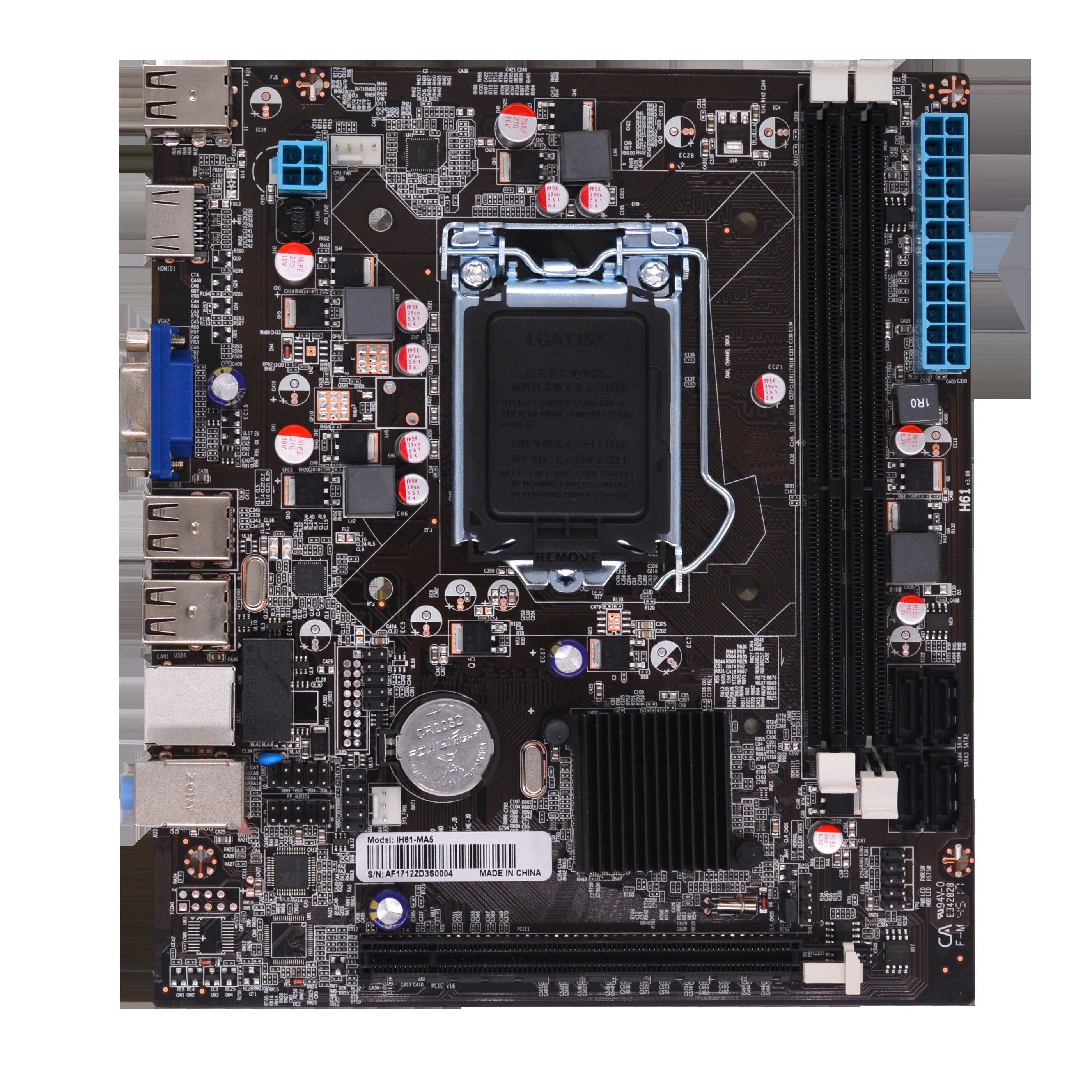 AFOX IH61-MA5 H61 DDR3 VGA USB 2.0 16X 1155 PIN ANAKART