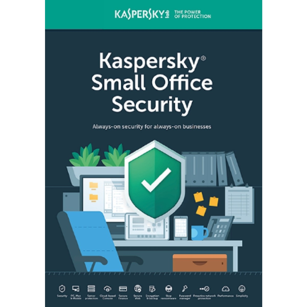 KASPERSKY Small Office Security ANTIVIRUS 1 SERVER+5 PC+ 5 MOBİL CİHAZ 1 YIL