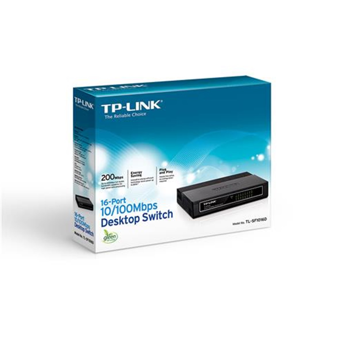 TP-LINK TL-SF1016D 16 PORT 10/100 FAST ETHERNET DESKTOP SWITCH