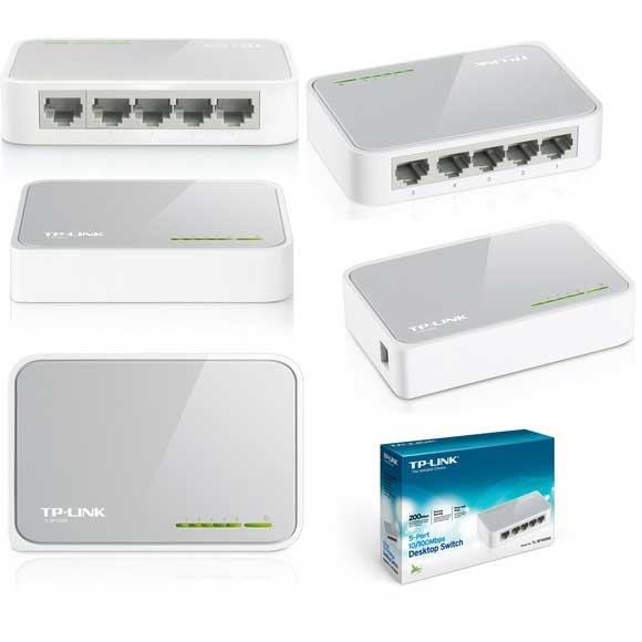 TP-LINK TL-SF1005D 5 PORT 10/100 FAST ETHERNET DESKTOP SWITCH