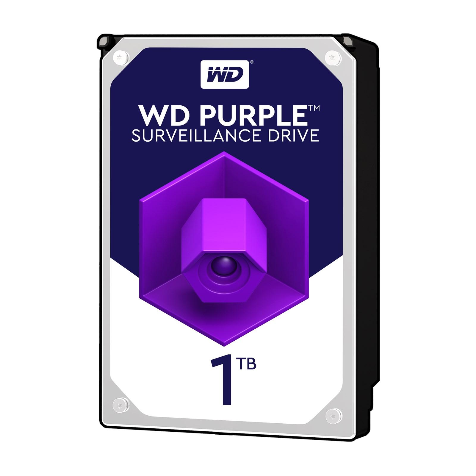 WD PURPLE 1TB 5400RPM 64MB SATA3 6Gbit/sn WD10PURZ 7/24 HDD