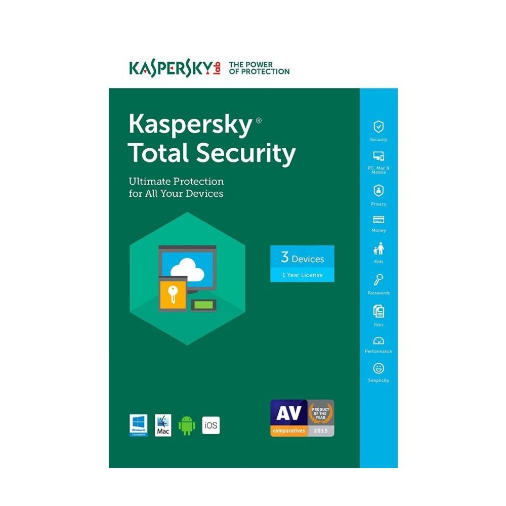 KASPERSKY TOTAL SECURITY MULTI DEVICE KUTU 3 KULLANICI 1 YIL