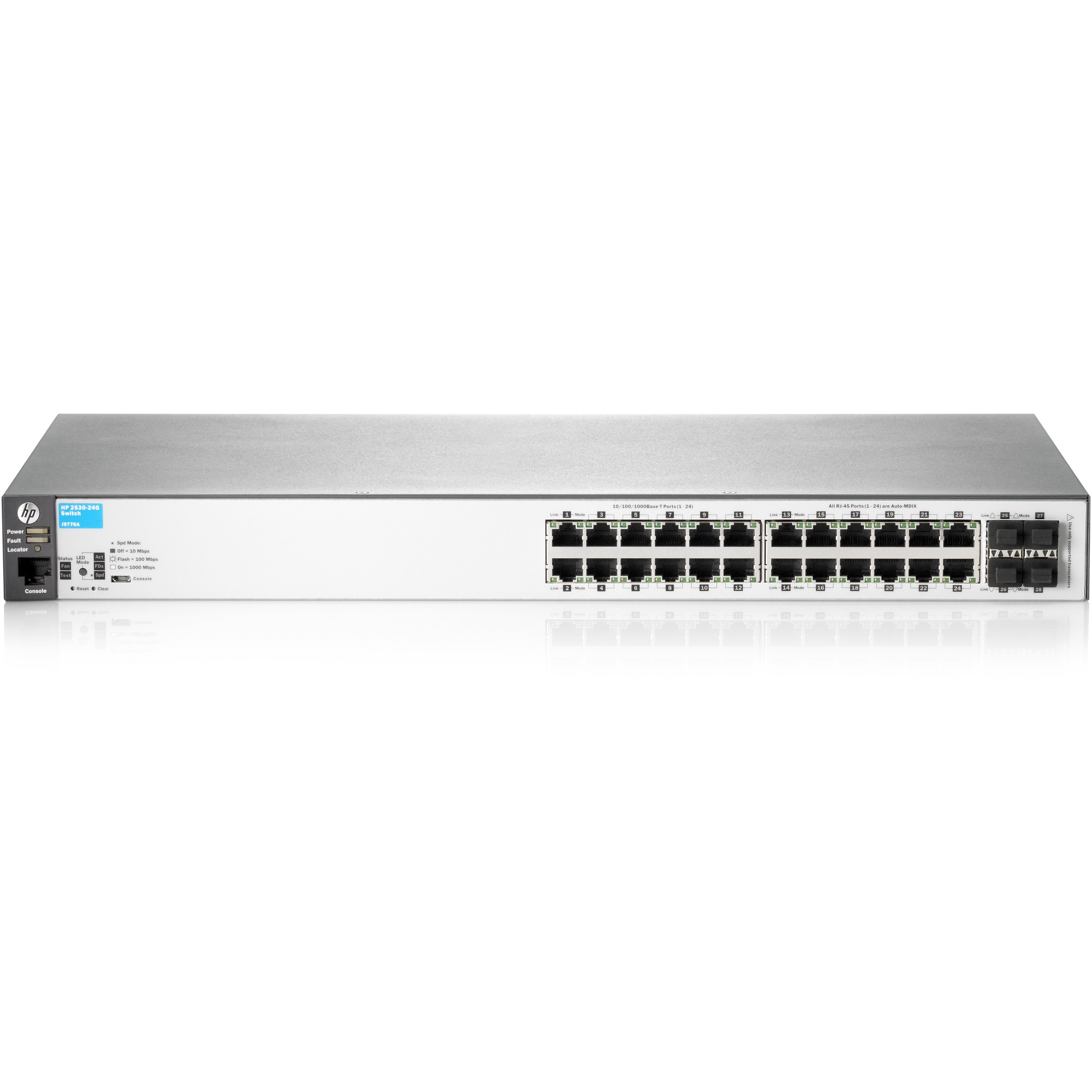 HP 2530-24G J9776A 24PORT 10/100/1000 4xSFP YONETILEBILIR RACKMOUNT SWITCH