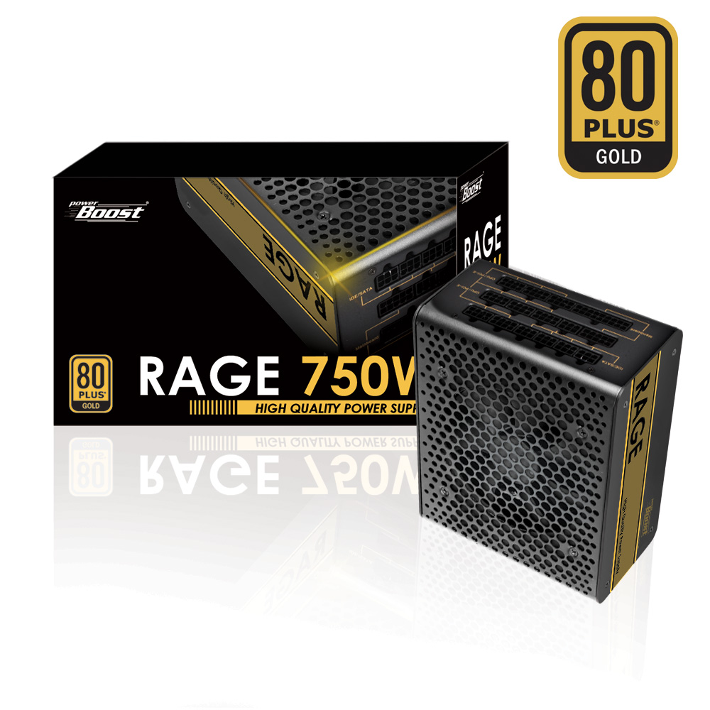 POWER BOOST BST-ATX750G 750W 80+ GOLD 12cm FANLI POWER SUPPLY AKTIF PFC FULL MODÜLER