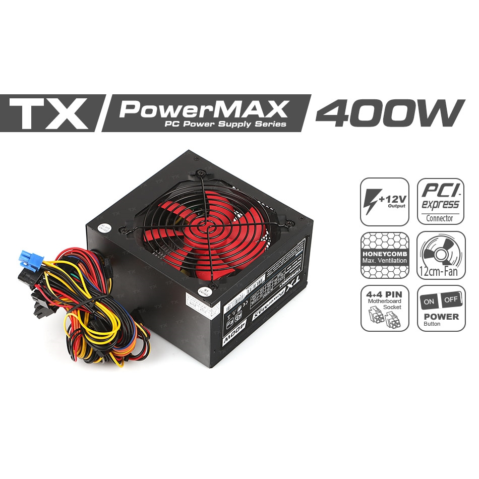 TX POWERMAX 400W 12CM FANLI POWER SUPPLY TXPSU400C1