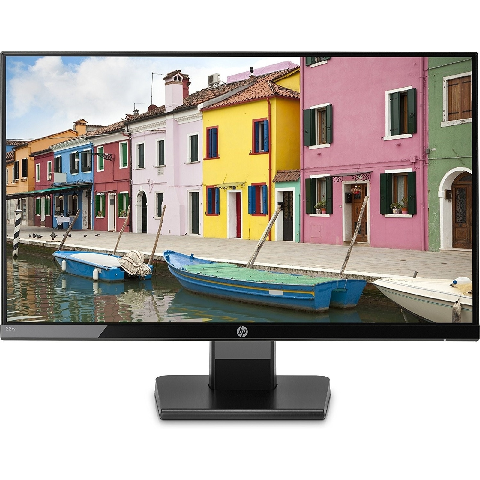 "HP 22W 1CA83AA 21.5"" 5MS 1920x1080 VGA/HDMI VESA SİYAH IPS LED MONITOR"