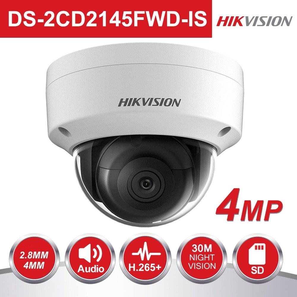 HIKVISION DS-2CD2145FWD-IS 4MP 2.8MM 30MT BLC, ROI, 3D DNR IP67 POE/ONVIF IP DOME KAMERA