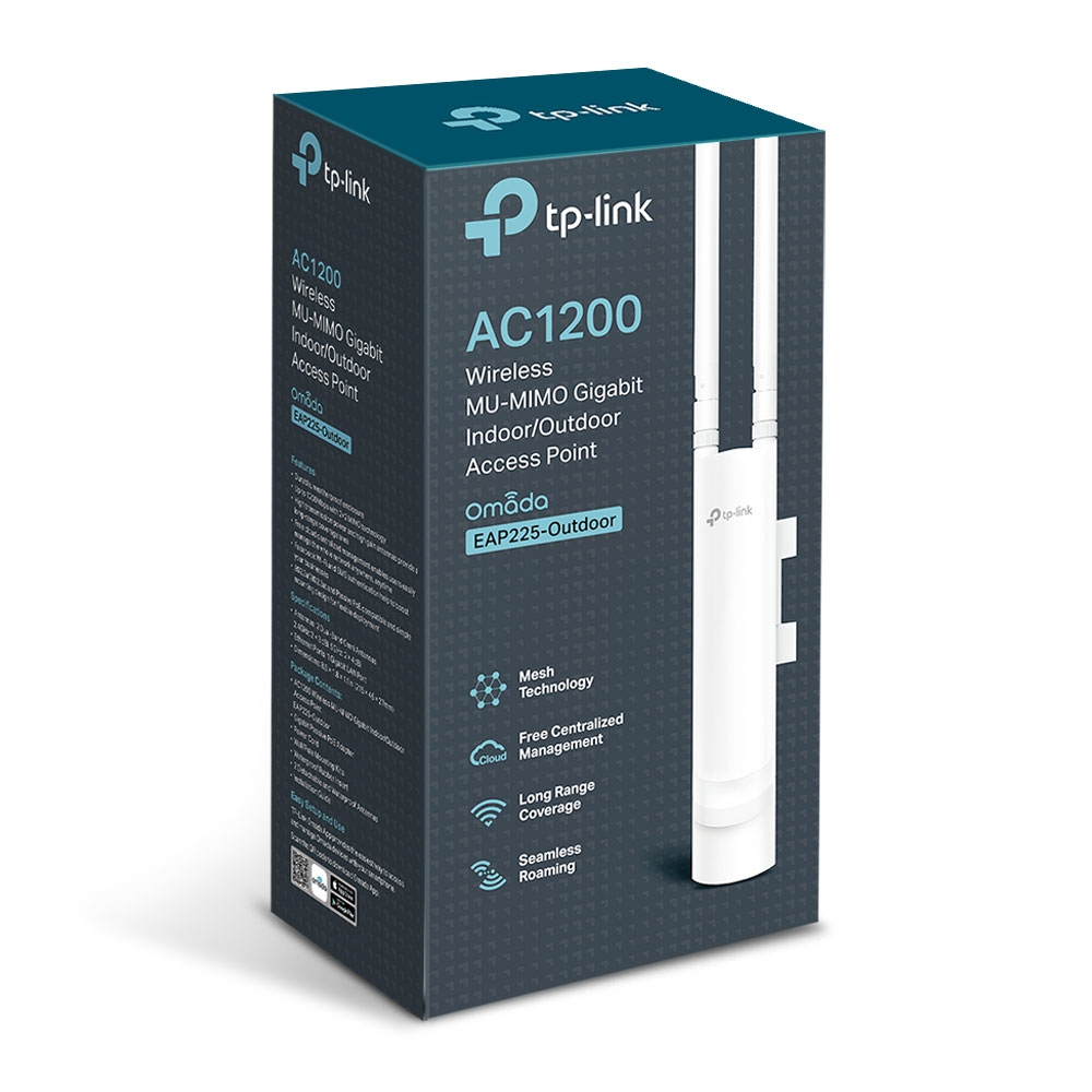 TP-LINK EAP225-OUTDOOR 1200MBPS 1PORT POE 2ANTEN 5DBI 2.4/5GHz OUTDOOR ACCESS POINT