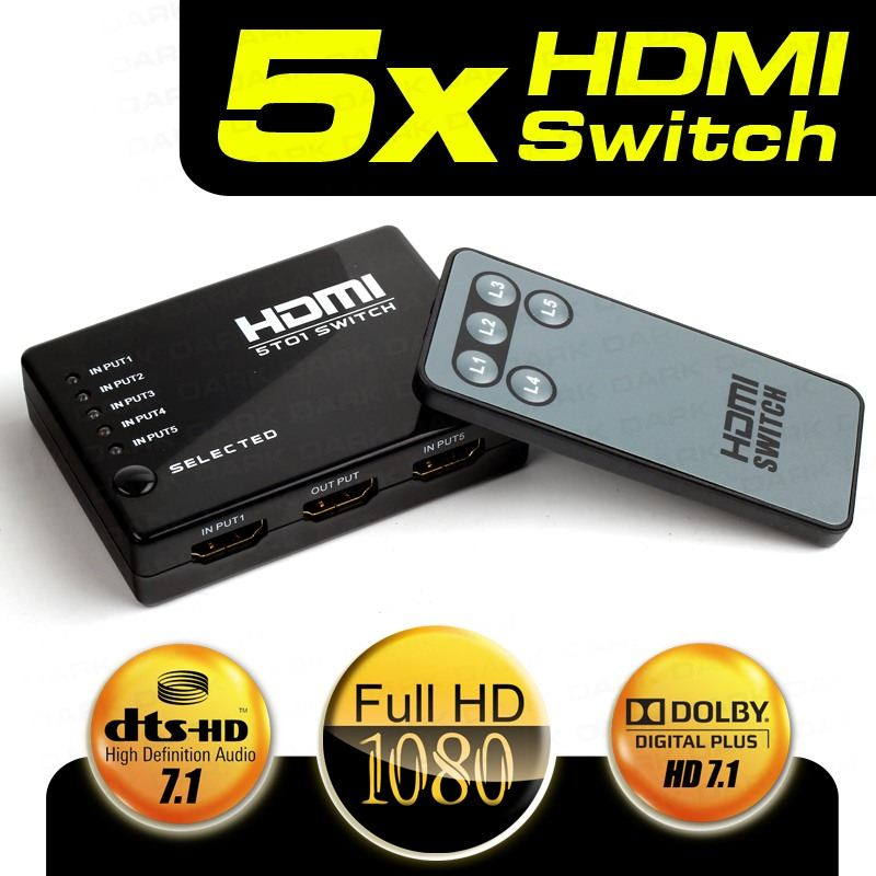 DARK DK-HD-SW4X1 4 PORT HDMI ÇOKLAYICI MATRIX SWITCH UZAKTAN KUMANDALI