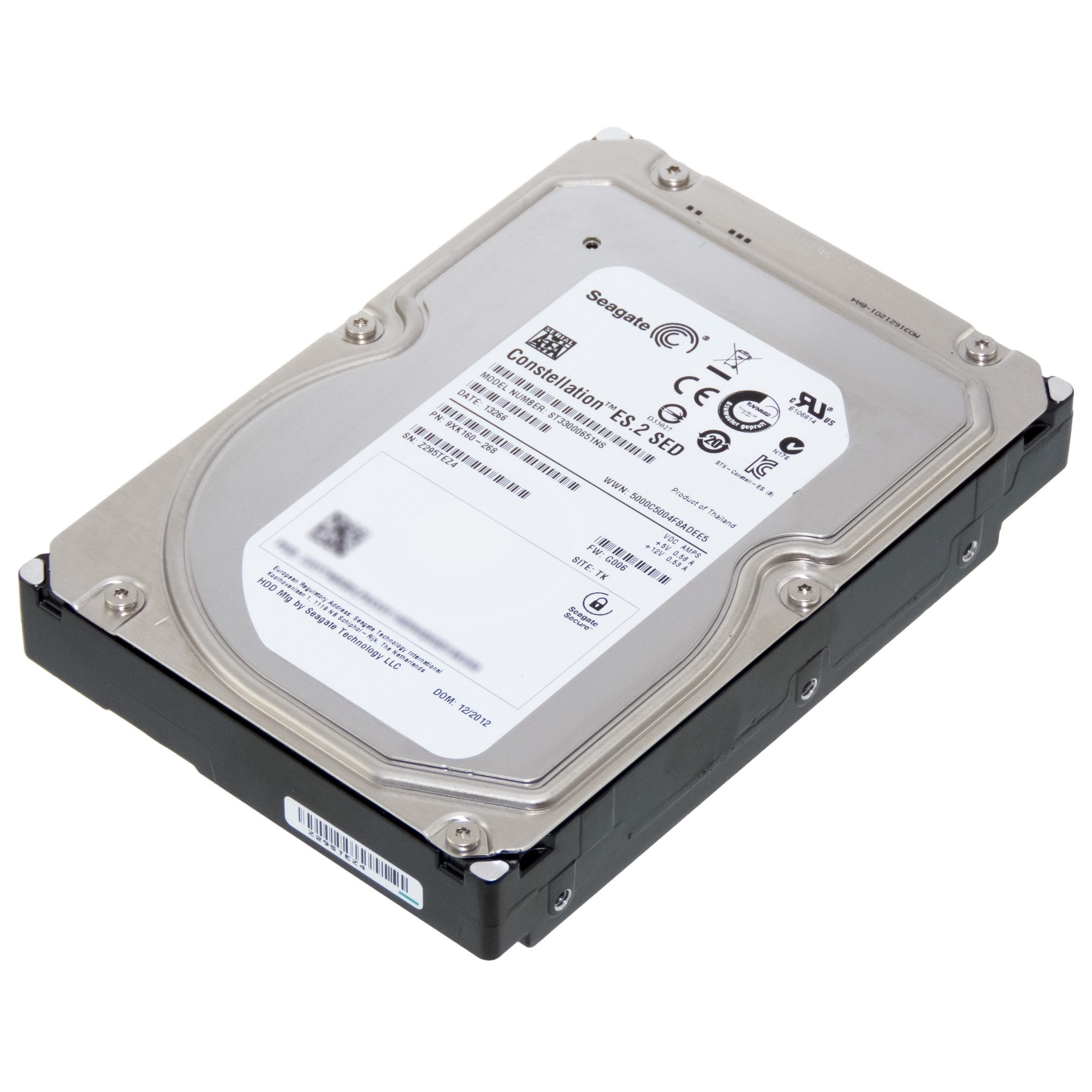 SEAGATE NAS 3TB 7200RPM 64MB SATA3 ST33000651NS RECERTIFIED HDD