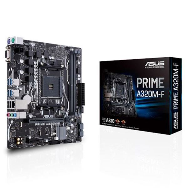 ASUS PRIME A320M-F A320 2xDDR4 VGA+DVI 16X AM4 ANAKART