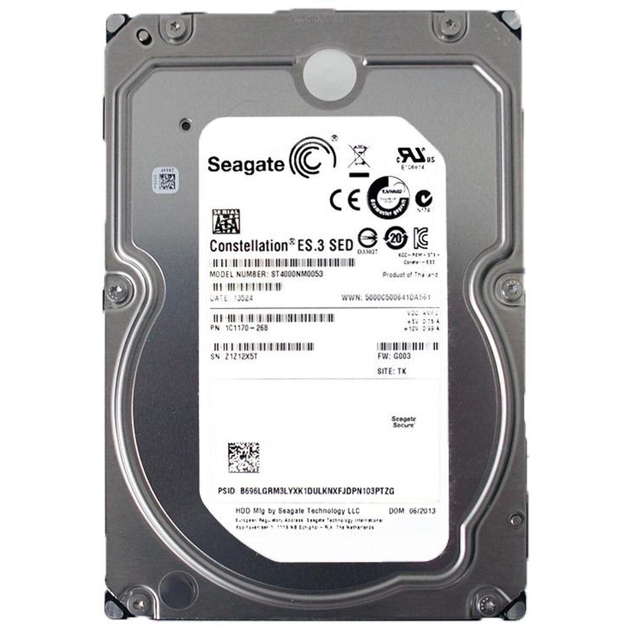 "SEAGATE CONSTELLATION ES.3 4TB 7200RPM 128MB SATA3 6Gbit/sn 3.5""  ST4000NM0053 7/24 RECERTIFIED HDD"