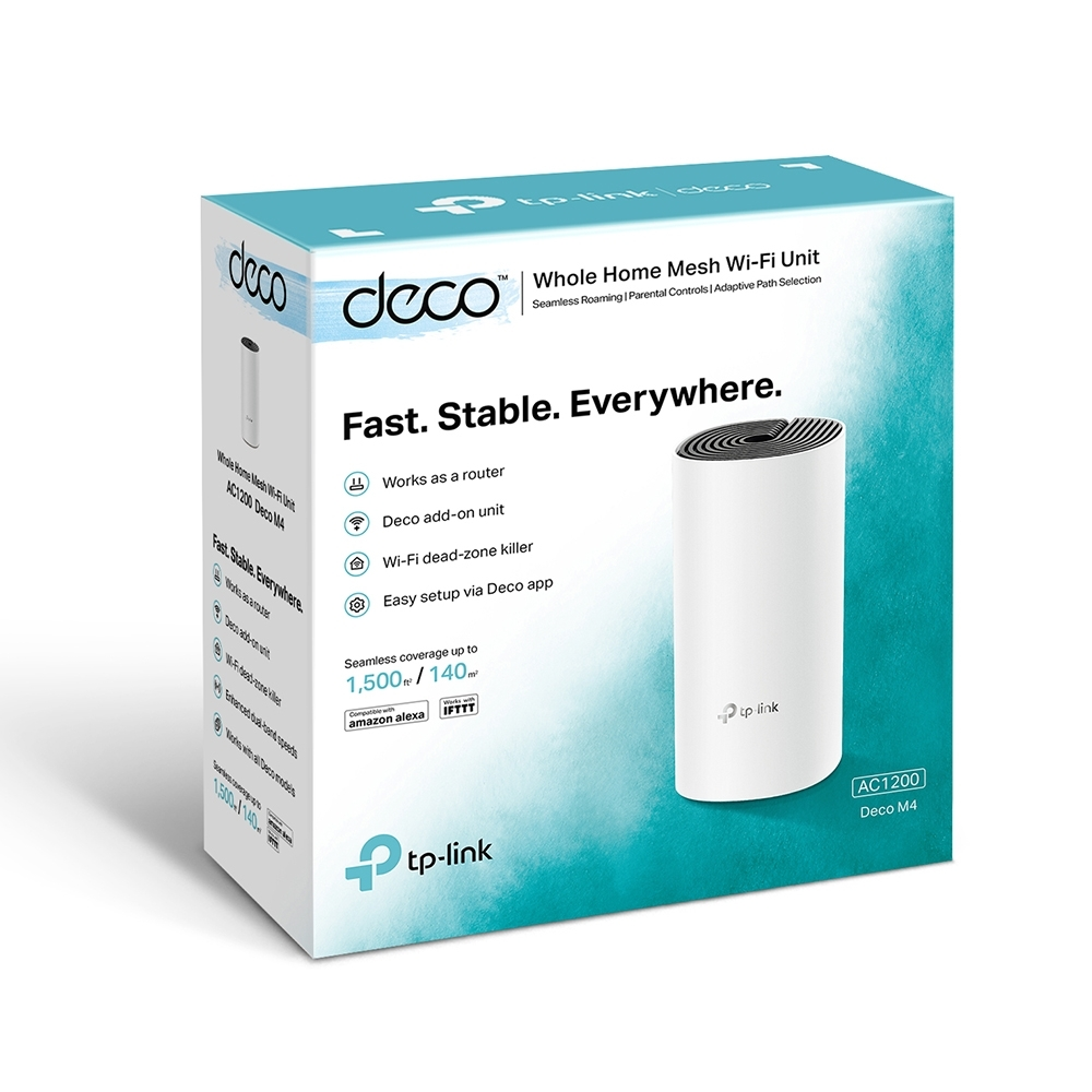 TP-LINK DECO M4(TEKLİ) AC1200 2.4 GHZ & 5 GHZ MESH WIFI INDOOR ACCESS POİNT/ROUTER