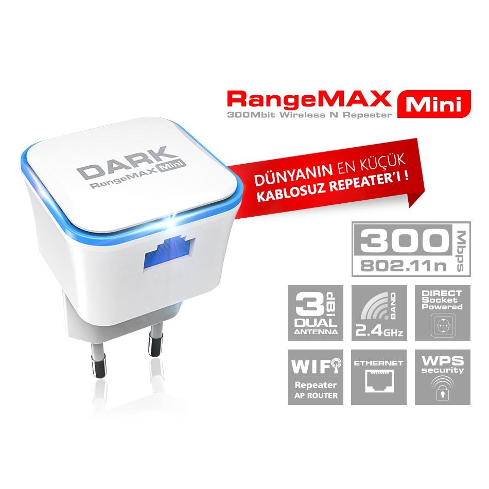 DARK RANGEMAX WRT360 DK-NT-WRT360 300MBPS 1PORT 3DBI 2.4GHz WIFI REPEATER