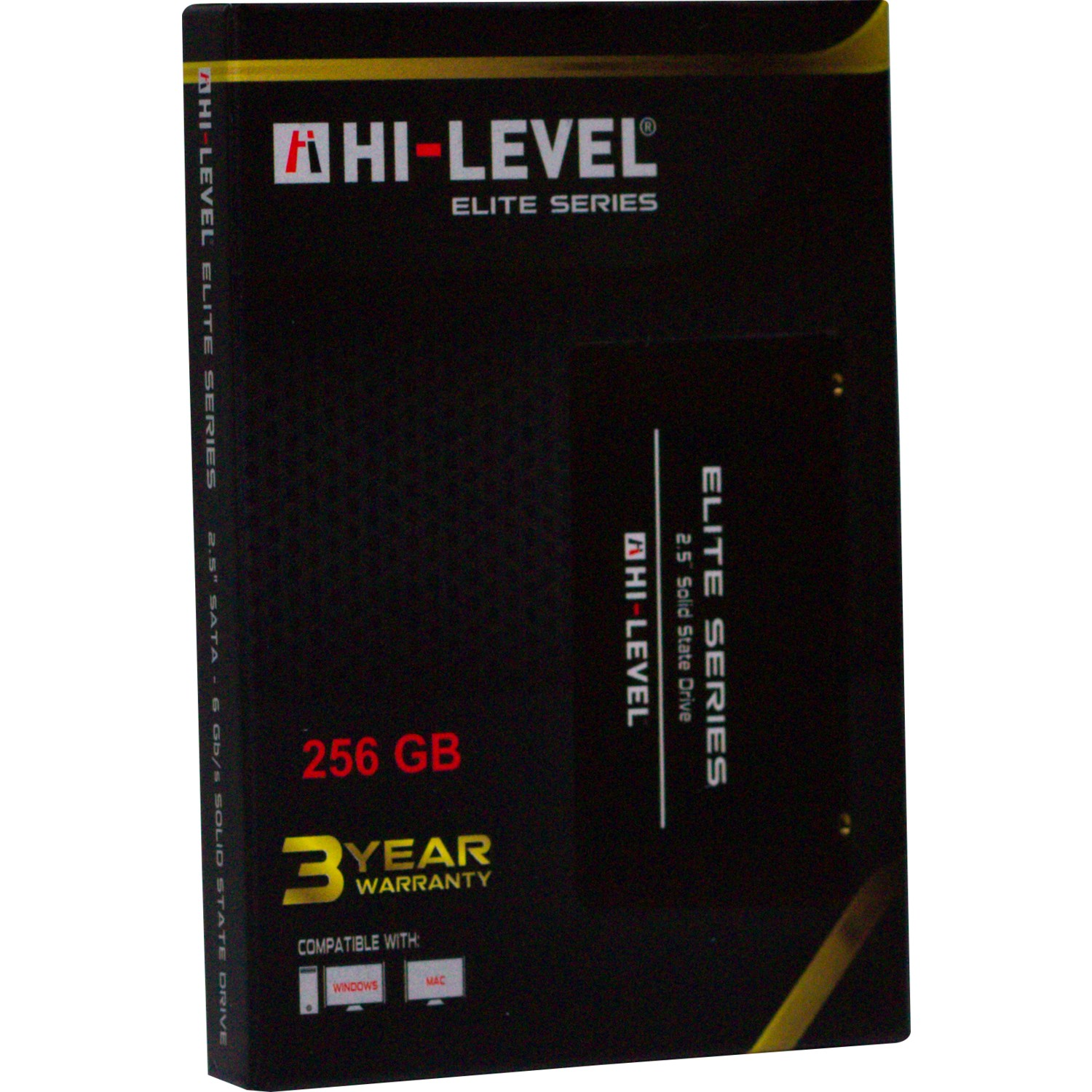 "HI-LEVEL ELITE SERIES 256GB 560/540MB/s 2.5"" SATA 3.0 SSD HLV-SSD30ELT/256G"