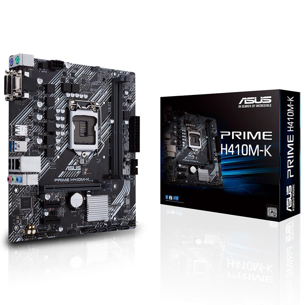 ASUS PRIME H410M-K Intel® H410 2xDDR4 1xDVI/1xVGA 1xGLAN 1200Pin ANAKART