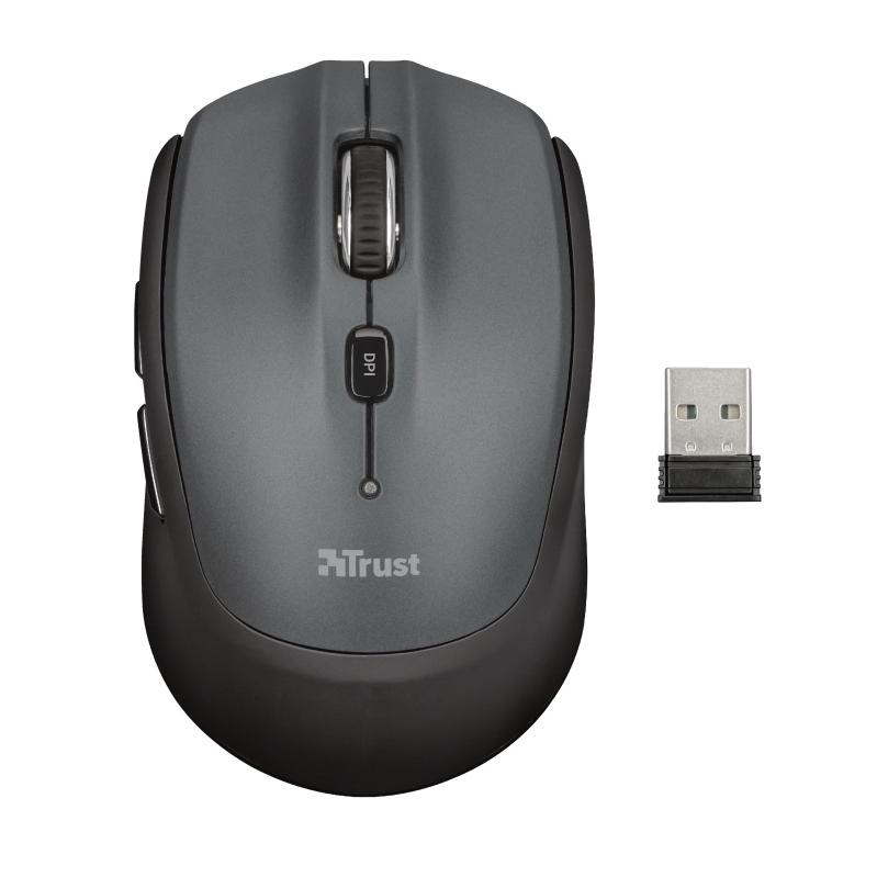 TRUST NONA 23177 USB 1600 DPI GRİ SİYAH KABLOSUZ MOUSE