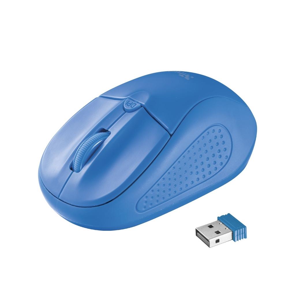 TRUST PRİMO 20786 USB 1600 DPI MAVİ KABLOSUZ MOUSE