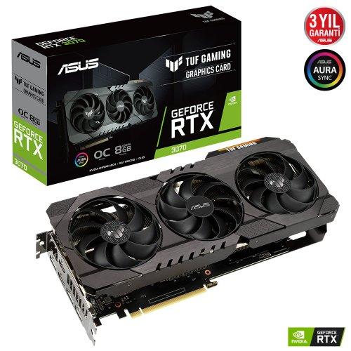 ASUS TUF GAMING RTX3070 8GB GDDR6 256Bit 3xDP/2xHDMI PCI-E 4.0 TUF-RTX3070-O8G-GAMING