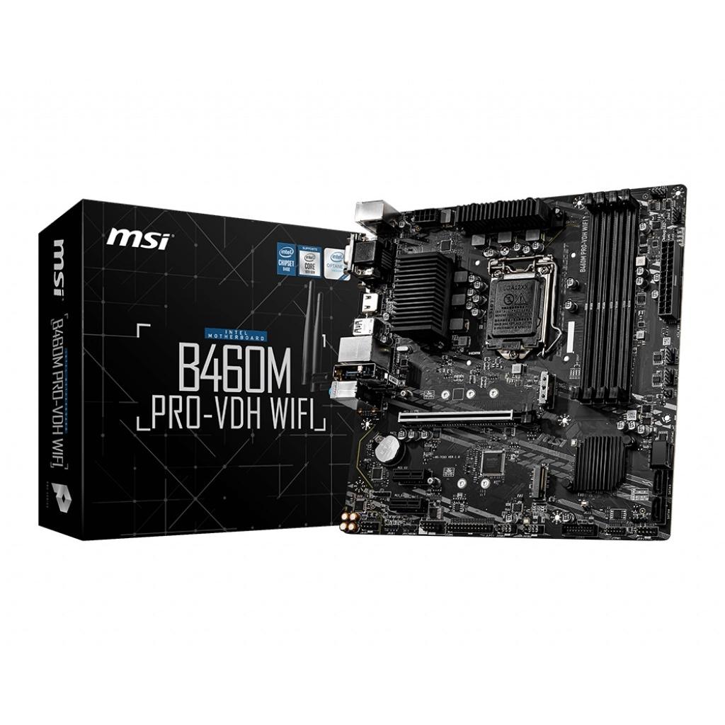 MSI B460M PRO-VDH WIFI 4xDDR4 HDMI/DVI/VGA 2xM.2 1xGLAN USB3.1 1200Pin ANAKART
