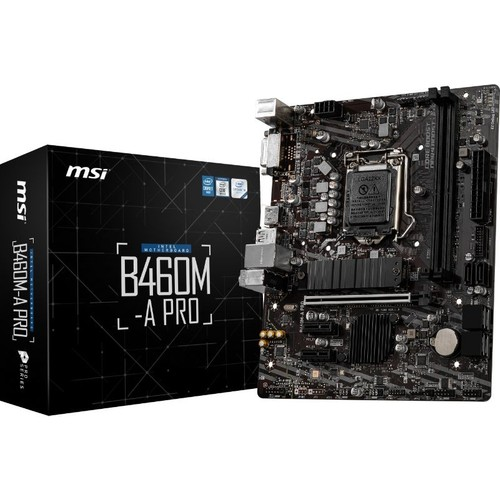 MSI B460M-A PRO 2xDDR4 1xDVI/1xHDMI 1xGLAN 1xM.2 1200Pin ANAKART