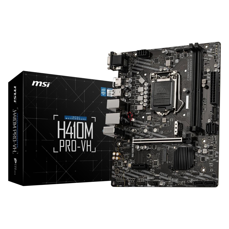 MSI H410M PRO-VH 2xDDR4 1XVGA/1XHDMI 1xGLAN 1xM.2 1200Pin ANAKART