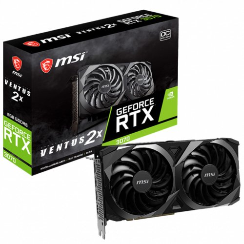 MSI NVIDIA RTX3070 VENTUS 2X OC 8GB GDDR6 256Bit 3xDP/1xHDMI PCI-E 4.0