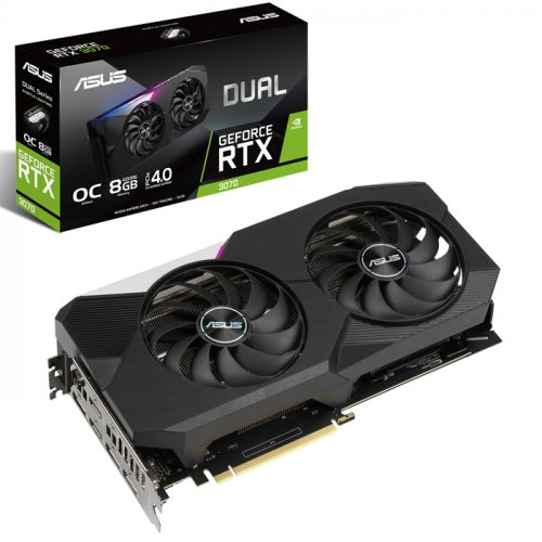 ASUS RTX3070 DUAL OC 8GB GDDR6 256Bit 3xDP/2xHDMI PCI-E 4.0 DUAL-RTX3070-O8G