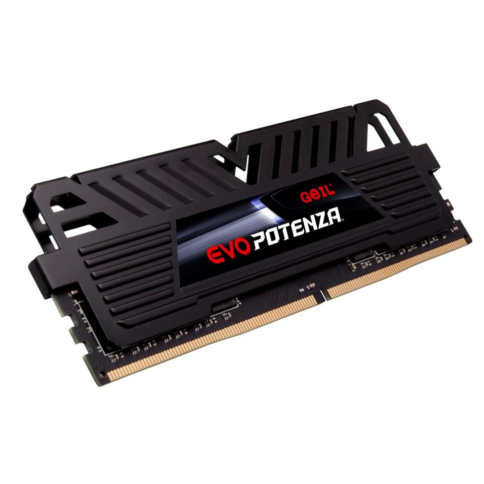 GEIL 8GB 3200MHZ DDR4 EVO POTENZA AMD RYZEN CL16 1.35V GAPB48GB3200C16ASC UDIMM BLACK