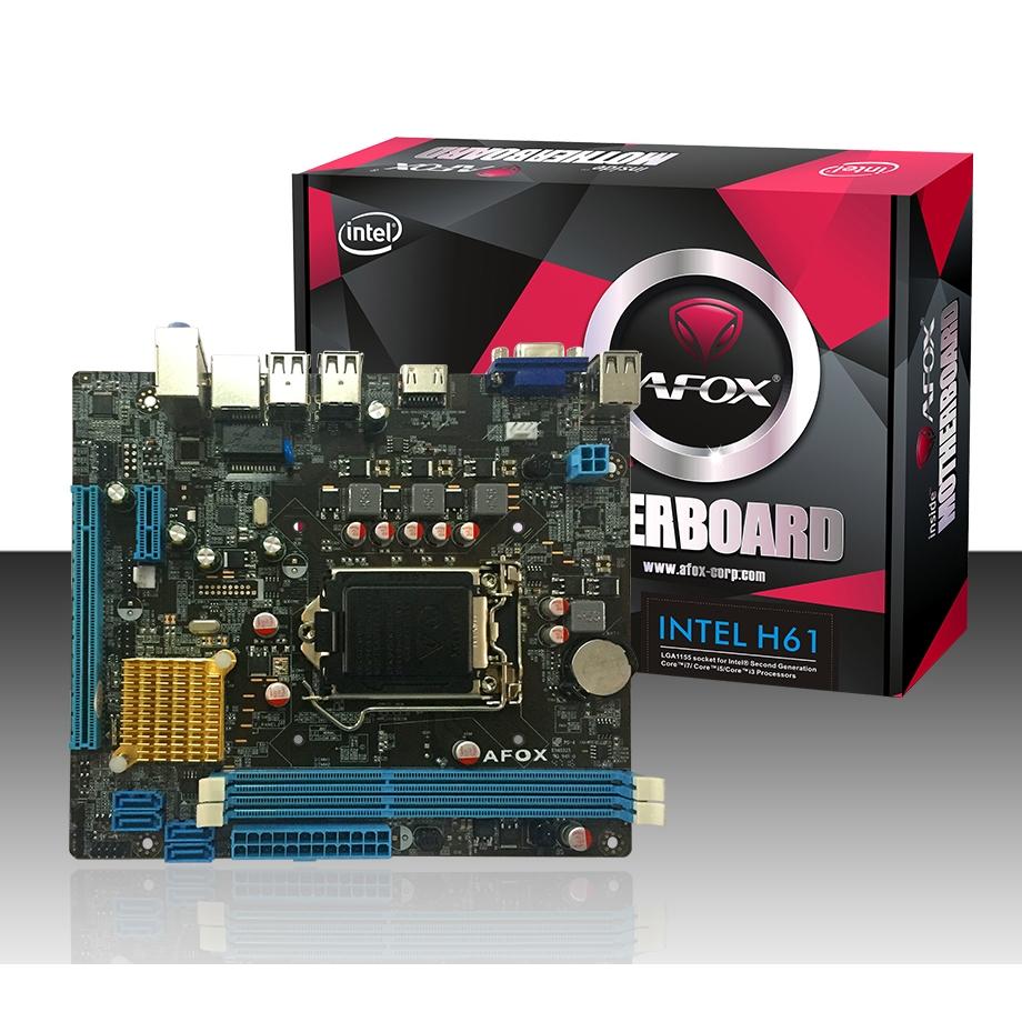 AFOX IH61-MA4 H61 DDR3 VGA USB 2.0 16X 1xPCI-E 1155 PIN ANAKART