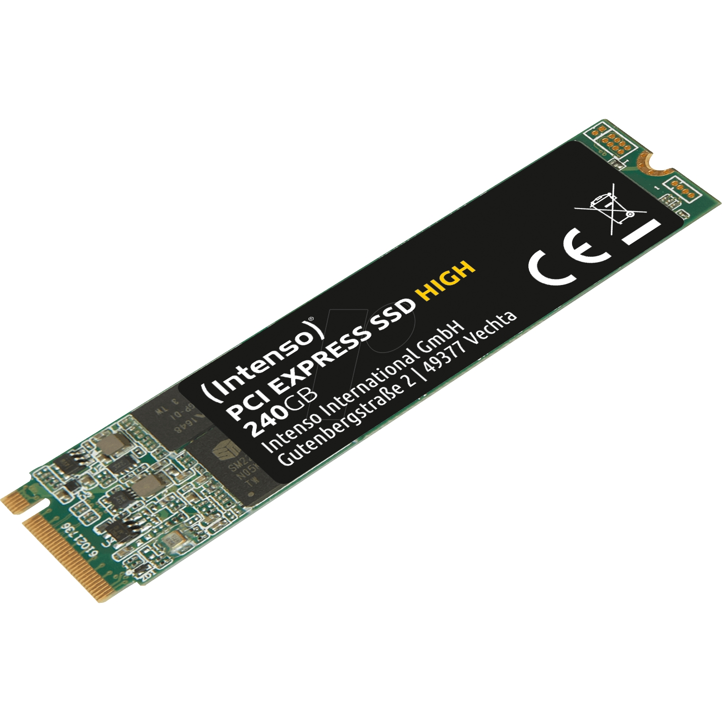 INTENSO HIGH 240GB 1700/800MB/s 4mm NVMe PCIe M.2 SSD 3834440 3D-NAND