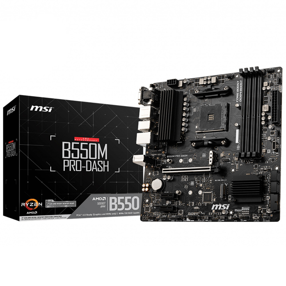 MSI B550M PRO-VDH 4xDDR4 VGA/DVI/HDMI 2xM.2 1xGLAN USB3 AM4 ANAKART