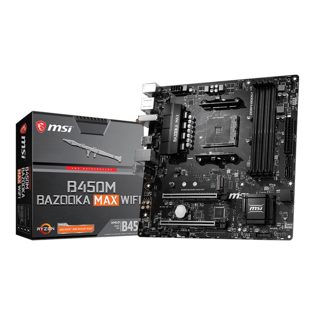 MSI B450M BAZOOKA MAX WIFI 4xDDR4 HDMI 16X 1xM2 AM4 ANAKART