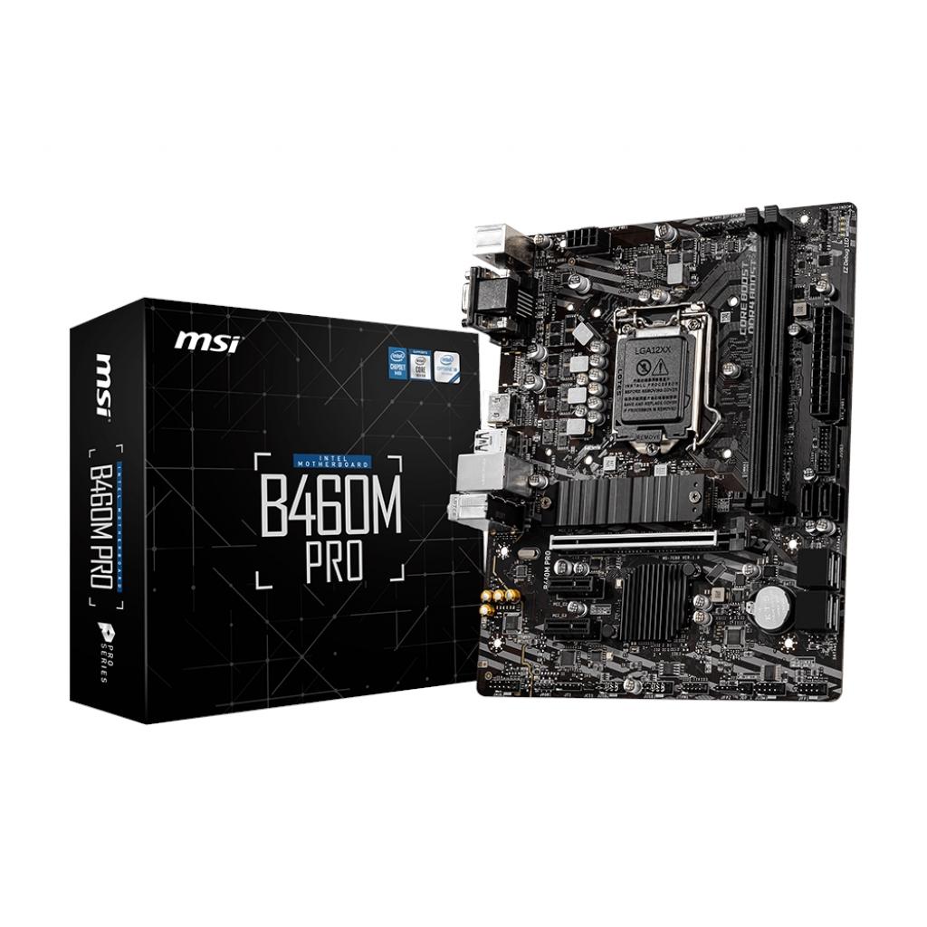 MSI B460M PRO 2xDDR4 VGA/DVI/HDMI 1xGLAN USB 3.2 16X 1xM2 1200 Pin ANAKART