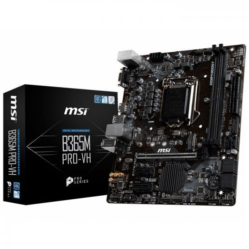 MSI B365M PRO-VH B365M 4xDDR4 VGA/HDMI 1xM.2 1xGLAN USB 3.1 1151v2 PIN ANAKART