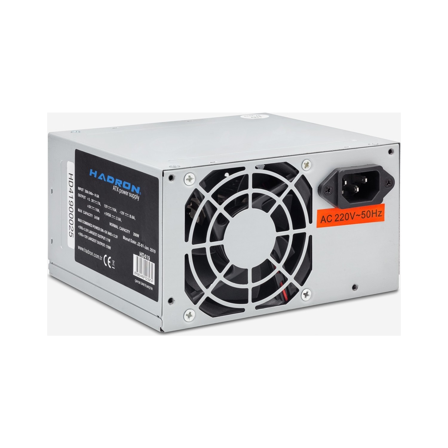 HADRON HD419 200W 8CM FAN POWER SUPPLY