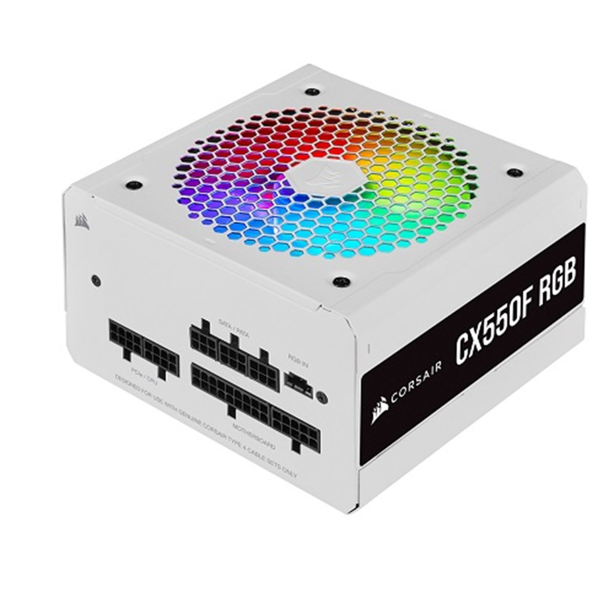 CORSAIR CX550F RGB 550W 12CM FAN POWER SUPPLY WHITE CP-9020225-EU