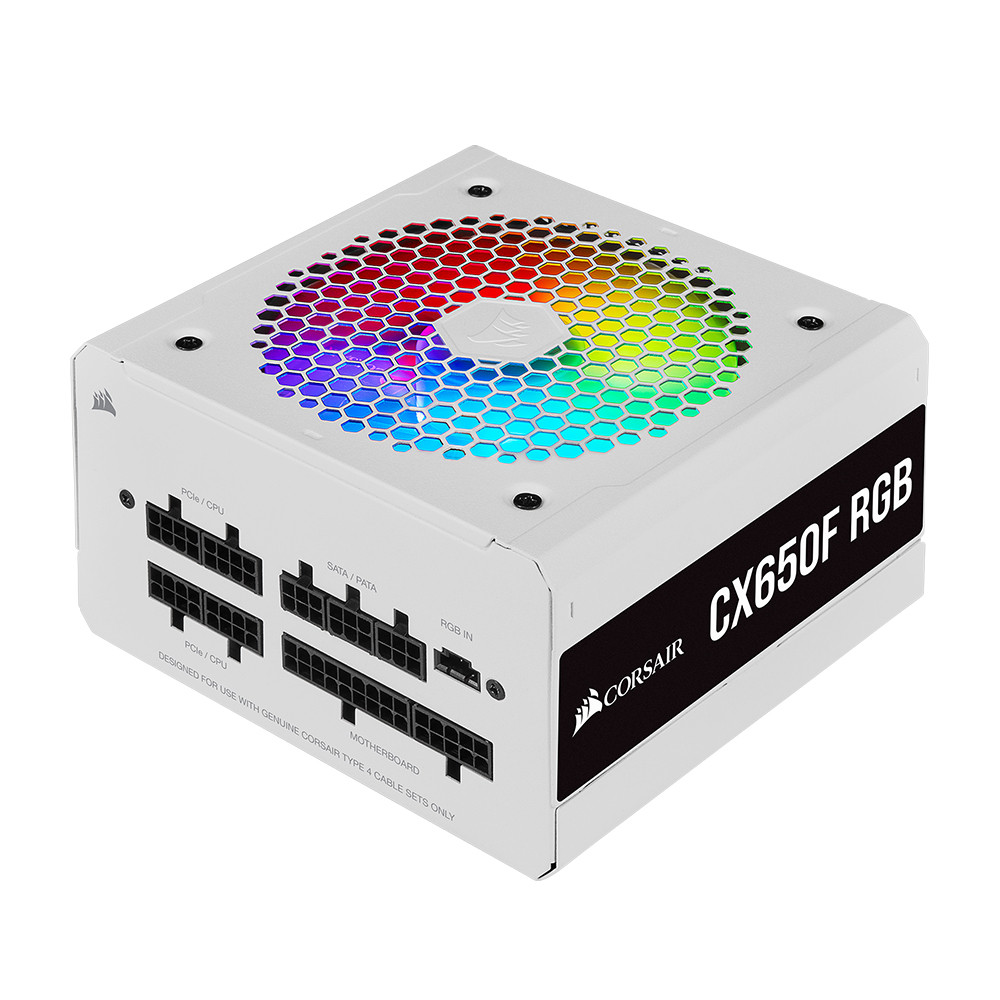 CORSAIR CX550F RGB 650W 12CM FAN POWER SUPPLY WHITE CP-9020226-EU