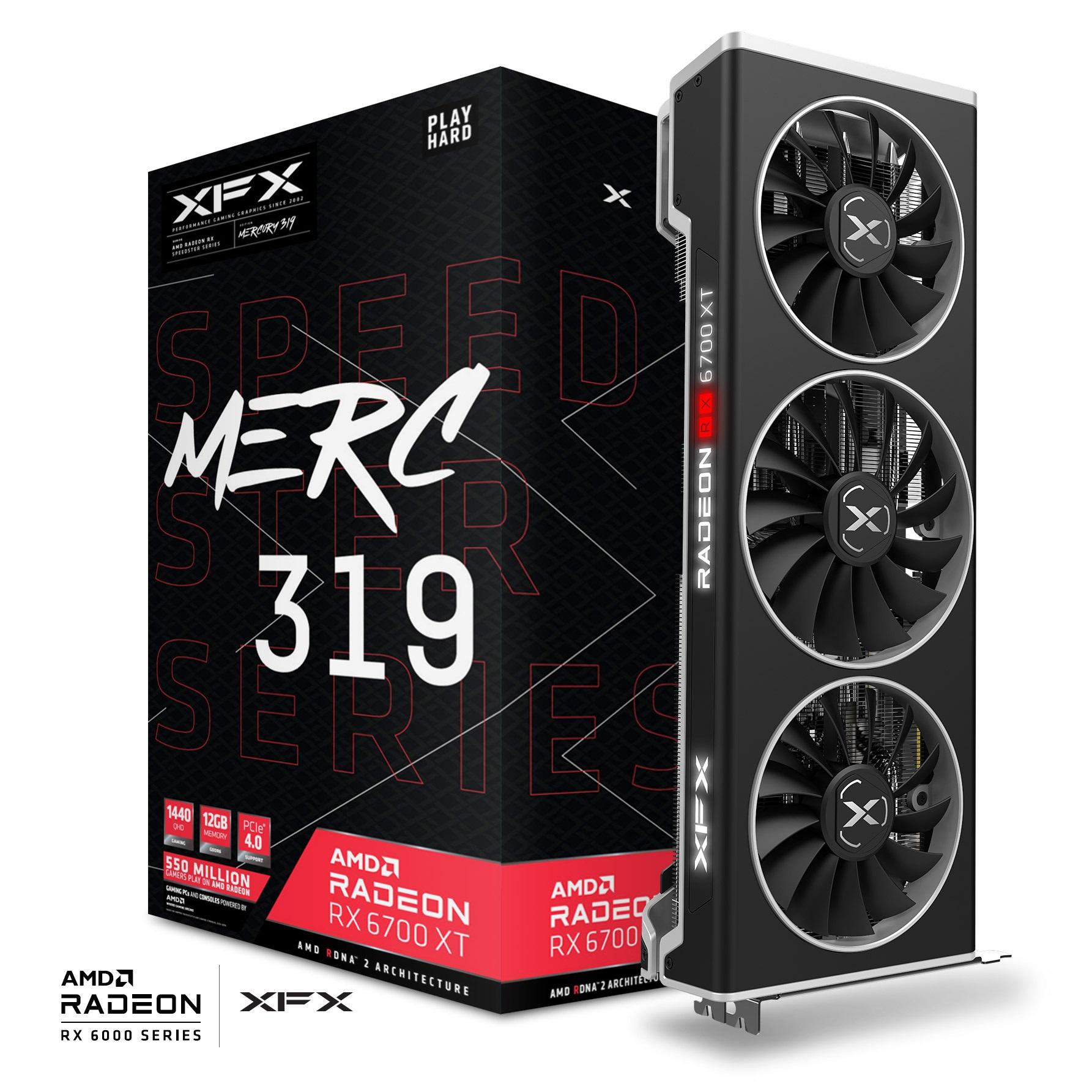 XFX RX-67XTYTBDP RX6700XT MERC319 / BLACK 12GB GDDR6 192Bit 3xDP/1xHDMI PCI-E 4.0
