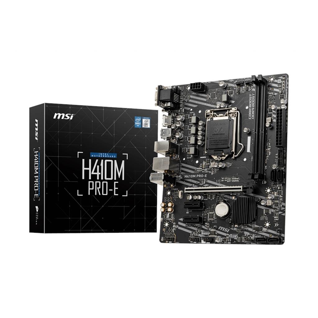 MSI H410M PRO-E H410 2xDDR4 HDMI/DVI/VGA 1xM.2 1xGLAN USB3.1 1200Pin ANAKART
