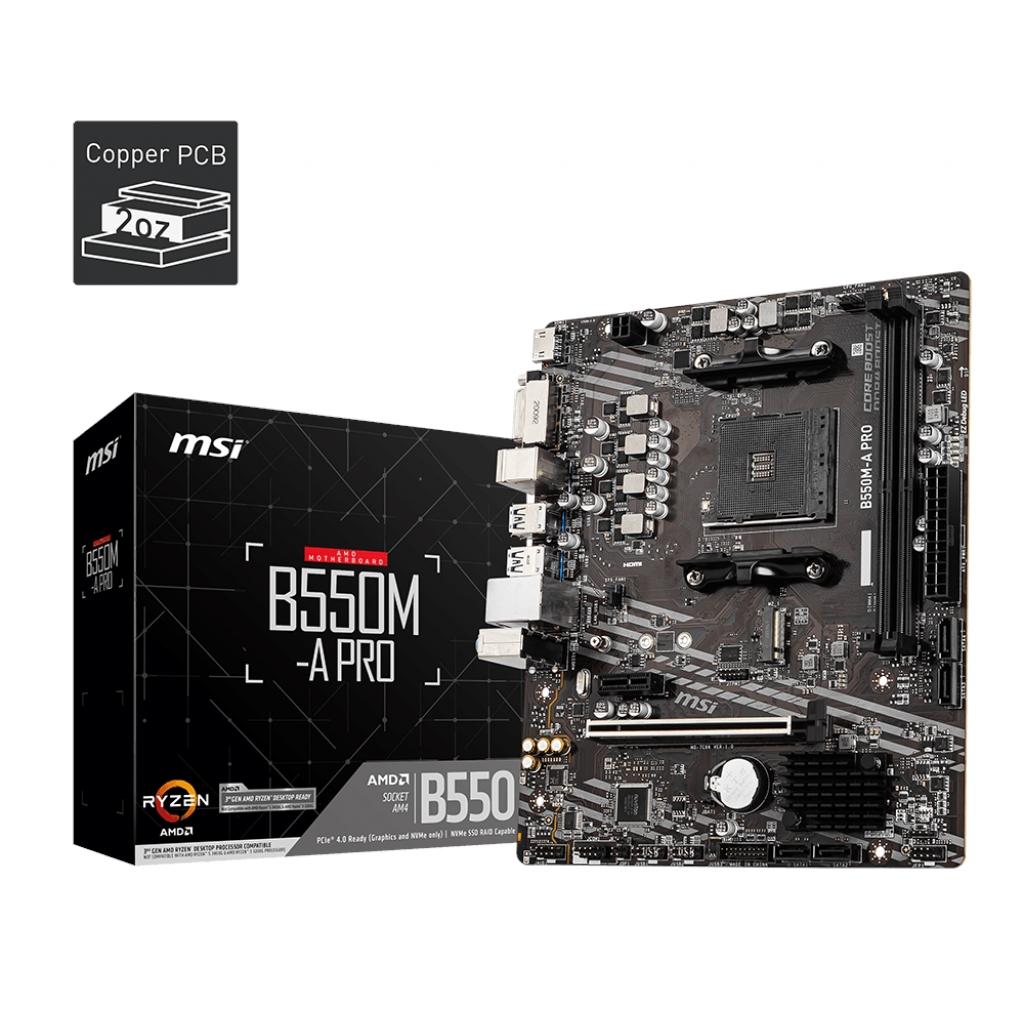 MSI B550M-A PRO B550 2xDDR4 DVI+HDMI 16X 1xM2 AM4 ANAKART