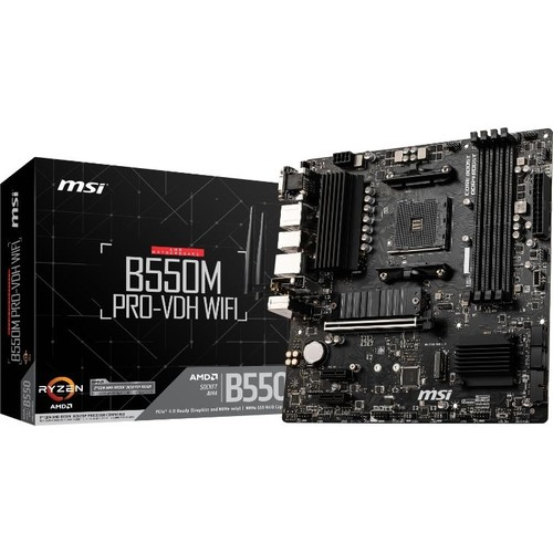 MSI B550M PRO-VDH WIFI B550 4xDDR4 VGA/DVI/HDMI 2xM.2 1xGLAN USB3.1 AM4 ANAKART