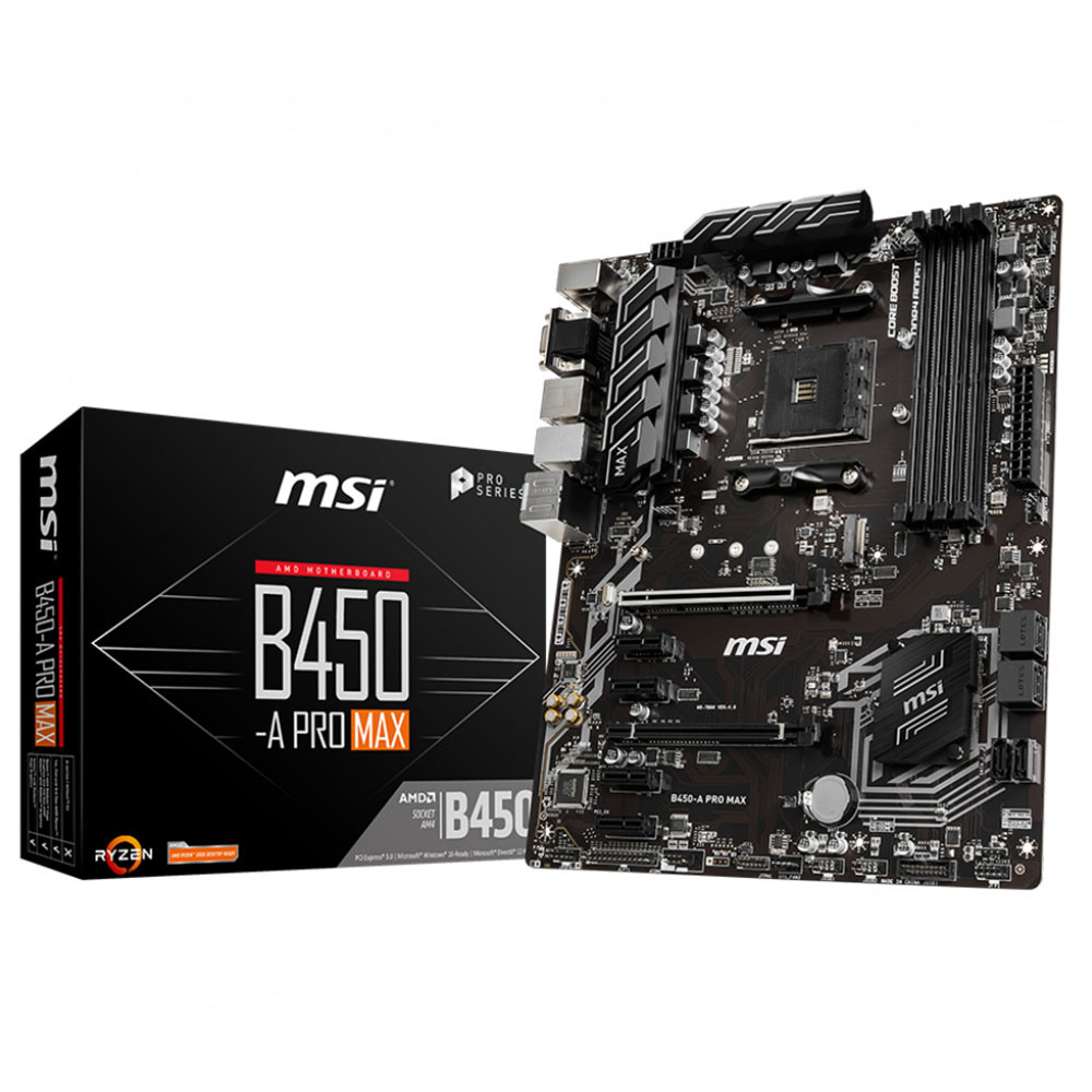 MSI B450-A PRO MAX B450 4xDDR4 VGA+HDMI+DVI-D 16X 1xM2 AM4 ANAKART