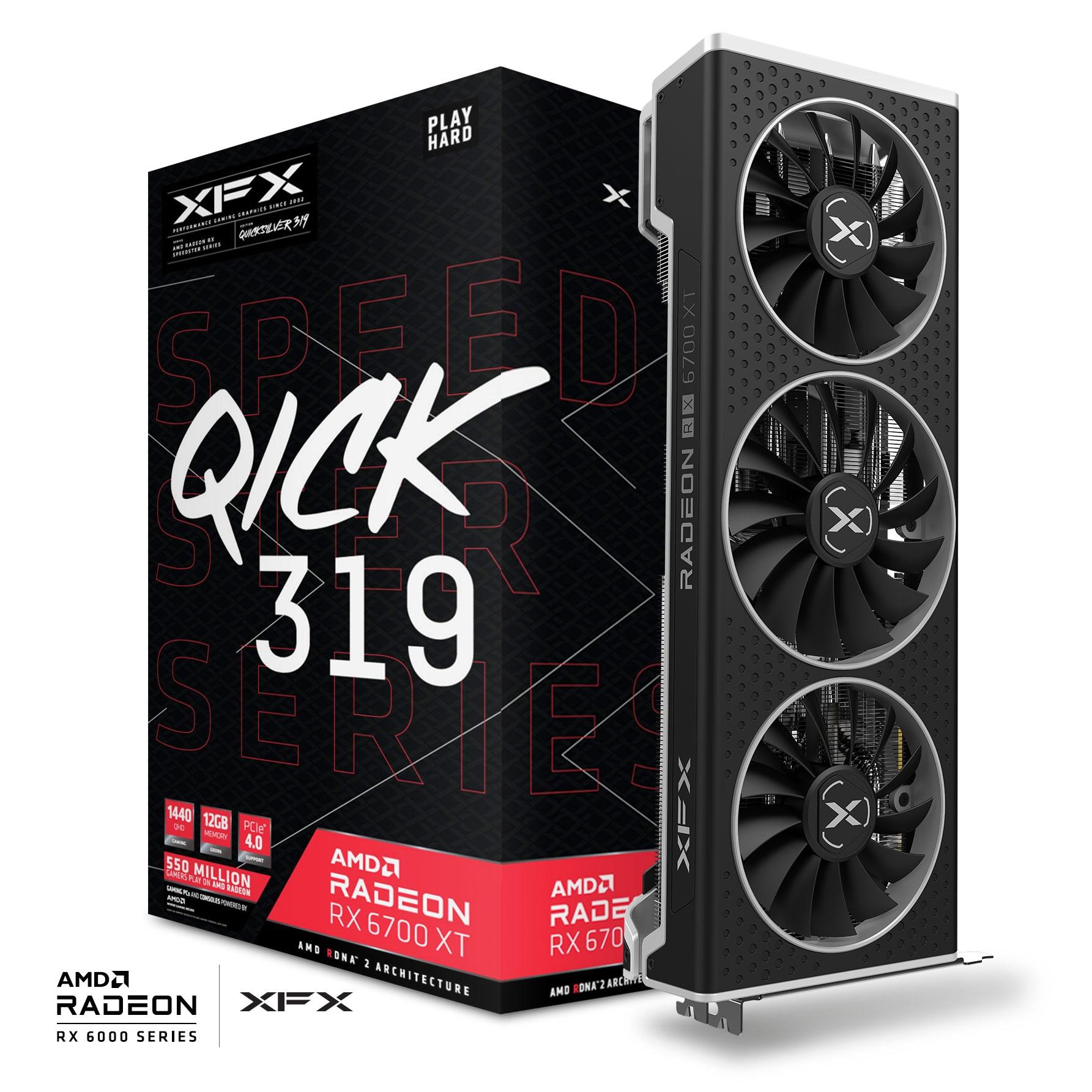 XFX RX-67XTYPBDP RX6700XT QICK319 / SPEEDSTER 12GB GDDR6 192Bit 3xDP/1xHDMI PCI-E 4.0