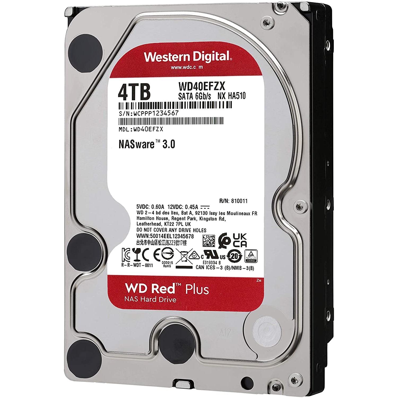 WD RED PLUS 4TB 5400RPM 128MB SATA3 6Gbit/sn WD40EFZX NAS HDD