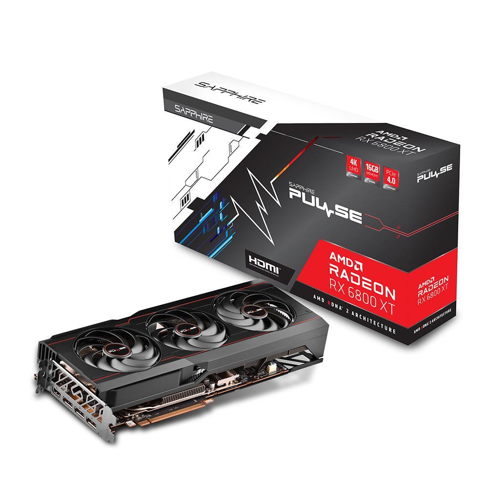 SAPPHIRE 11304-03-20G RX6800XT PULSE RADEON 16GB GDDR6 256Bit 3xDP/1xHDMI PCI-E 4.0