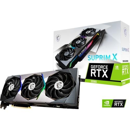 MSI RTX3080 SUPRIM X 10G LHR 10GB GDDR6X 320 Bit 3xDP/1xHDMI PCI-E 4.0 DX12