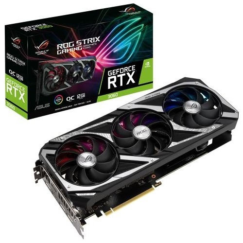 ASUS RTX3060-O12G-V2-GAMING ROG STRIX RTX3060 12GB GDDR6 192Bit 3xDP/2xHDMI PCI-E 4.0 DX12